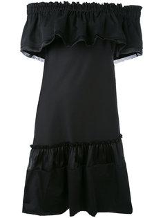 ruffled off-the-shoulder dress Alberta Ferretti
