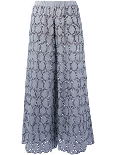 embroidered wide-leg trousers Erika Cavallini