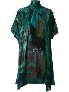 платье с завязкой на бант Sacai