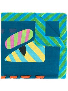 шарф с геометрическим принтом Fendi
