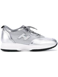 кроссовки с сетчатыми панелями  Hogan