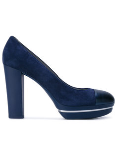туфли с контрастным носком на платформе Hogan