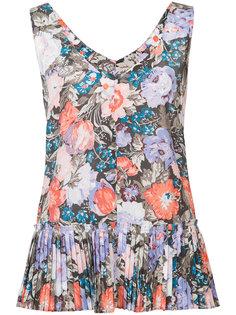 блузка с плиссированным подолом Rebecca Taylor
