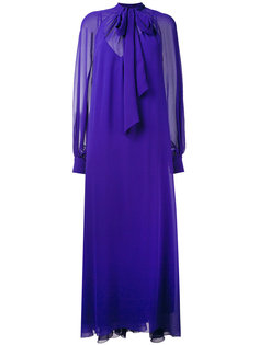 длинное платье с присборенными у манжет рукавами Lanvin