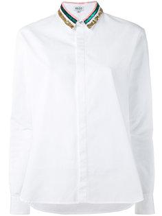 рубашка с пайетками на воротнике  Kenzo