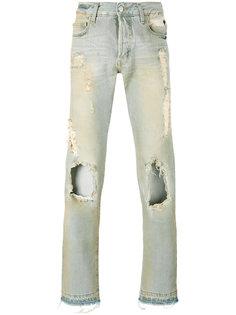 узкие джинсы с протертостями Misbhv