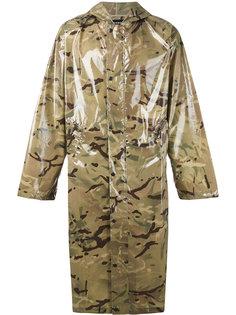 пальто с капюшоном и камуфляжным принтом Misbhv