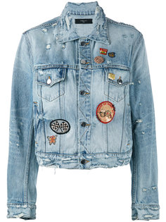 джинсовая куртка с бахромой  Amiri