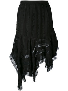 кружевная юбка с асимметричным подолом Philosophy Di Lorenzo Serafini