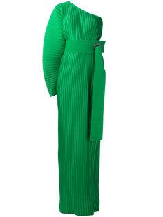 плиссированное платье на одно плечо Solace