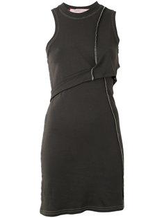 мини-платье асимметричного кроя Eckhaus Latta