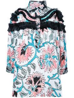 блузка с контрастной отделкой из рюшей Antonio Marras