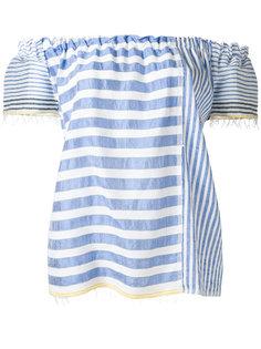 полосатая блузка с открытыми плечами Lemlem