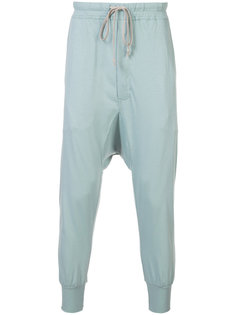 спортивные брюки с заниженным шаговым швом Rick Owens DRKSHDW