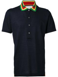 футболка-поло с полосатым воротником Paul Smith