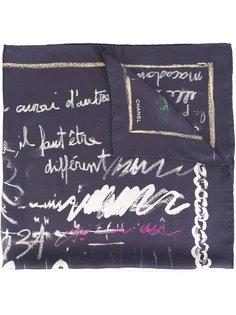 шарф с письменным принтом Chanel Vintage