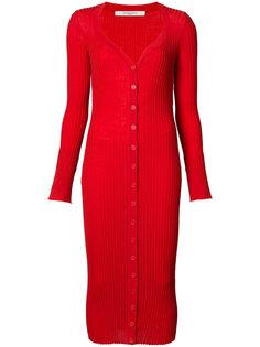 удлиненный кардиган в рубчик  Givenchy