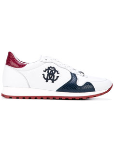 кроссовки с логотипом сбоку Roberto Cavalli