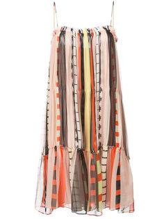 полосатое многослойное платье Apiece Apart