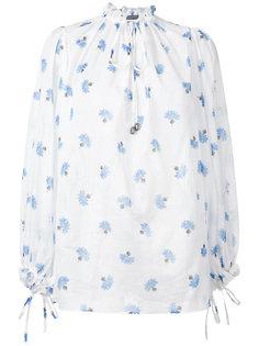 блузка Voile с рисунком Alexander McQueen