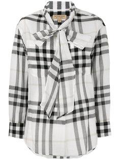 клетчатая рубашка с завязками на шее Burberry
