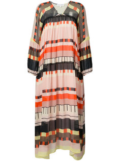 abstract printed long dress Apiece Apart