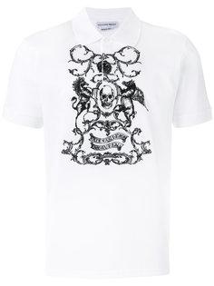 рубашка с принтом черепа Alexander McQueen