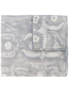 шарф с цветочным принтом Giorgio Armani