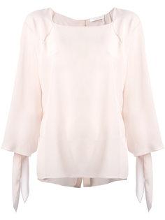 блузка с манжетами на завязках Chloé
