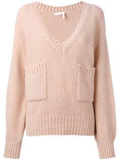 свитер с накладными карманами Chloé