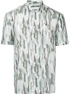 рубашка с камуфляжным принтом Cerruti 1881