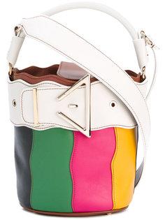 полосатая сумка-ведро с пряжкой Sara Battaglia