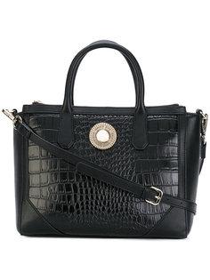 сумка на плечо с эффектом крокодиловой кожи Versace Jeans