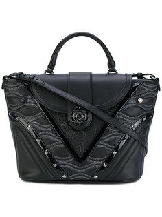 сумка-сэтчел с контрастной текстурой Versace Jeans
