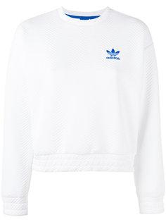 толстовка с фактурной отделкой и логотипом Adidas
