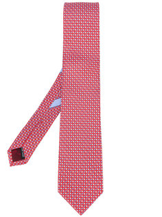 галстук с мелким принтом Salvatore Ferragamo