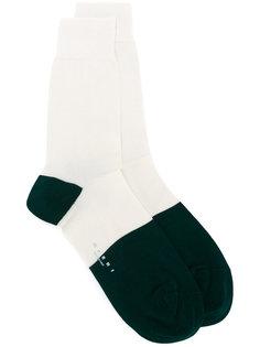 носки с контрастным дизайном Marni