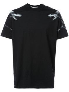 футболка с принтом акул Givenchy