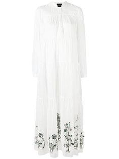 платье с вышивкой Erika Cavallini
