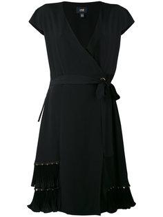 платье с запахом и плиссированными вставками Cavalli Class