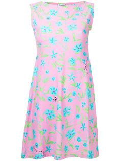 винтажное платье без рукавов с логотипом СС Chanel Vintage