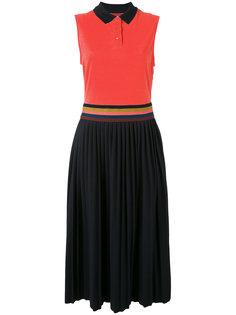 плиссированное платье-поло Paul Smith