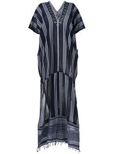 полосатое платье-кафтан  Lemlem
