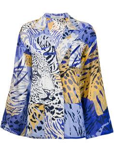 двубортный пиджак с животным принтом  Jean Louis Scherrer Vintage