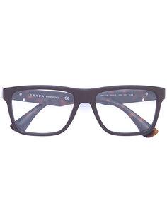 очки в квадратной оправе Prada Eyewear