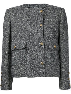 твидовый пиджак с логотипом СС Chanel Vintage