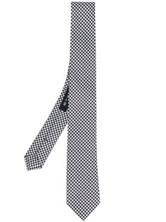 галстук с узором в ломаную клетку Etro
