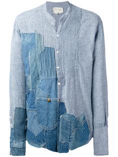 джинсовая рубашка с заплатками Greg Lauren