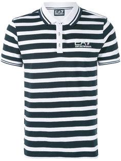 полосатая футболка-поло Ea7 Emporio Armani