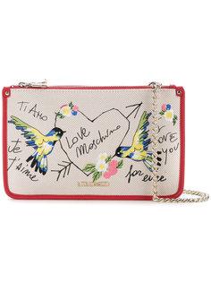 сумка через плечо с вышивкой птиц Love Moschino
